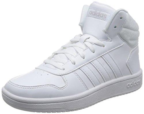 adidas Damen VS Hoops MID 2.0 Fitnessschuhe Weiß Ftwbla/Griuno 000, 40 EU