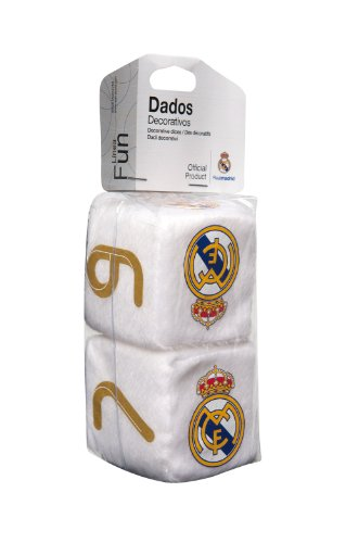 "Sumex RMA0607 - Dados decorativos ""Real Madrid"", 7 x 7 x 14 cm"