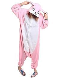 Casa Onesie Licorne Pijamas Kigurumi Pijama Animal Unisexo para Adultos con Capucha Traje de Cosplay Disfraz