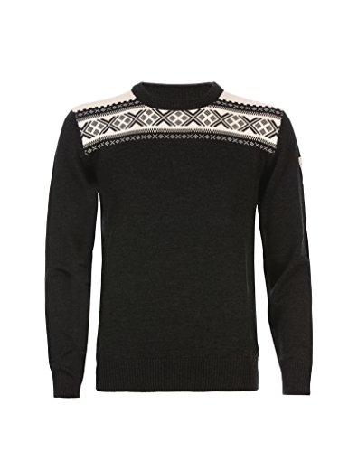 Dale of Norway - Pullover da uomo Hemsedal, colore antracite scuro/bianco sporco, taglia XL, 91961-E