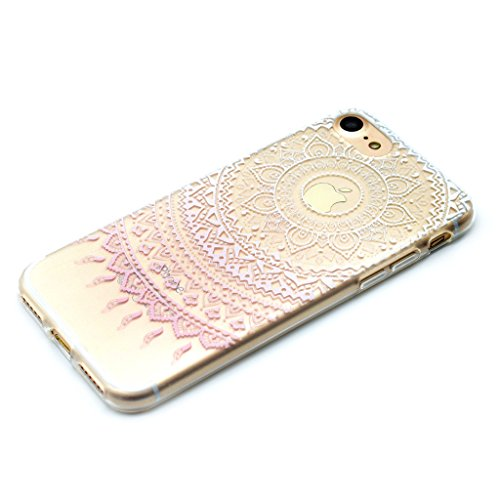 Funda para iPhone 8, Funda para iPhone 7 ,JIENI Transparente TPU Suave Silicona Ropa de niña de la mariposa Parachoques Tapa Caso Carcasa Case Espalda Cover para iPhone 8 Y iPhone 7 MM19