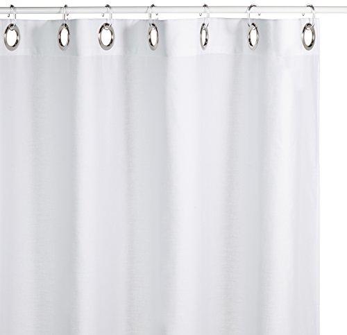 Sealskin Textil Duschvorhang Coloris, Farbe: Weiß, B x H: 180 x 200 cm
