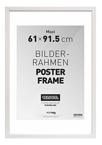 REINDERS Bilderrahmen für Maxi-Poster 61x91,5cm Holzoptik Weiß Romantic
