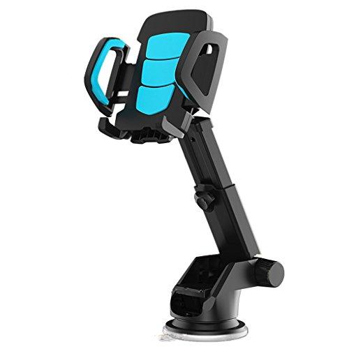 Y U Y E Handyhalterung Halter Auto Auto-Berg-Armaturenbrett-Handy-Halter für Fenster-Berg für GPS PDA-Handy MP4 (Farbe : Blue) Blue Handy Pda