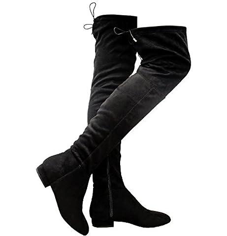 Generic , Bottes cuissardes femme - noir - noir, 37 1/3