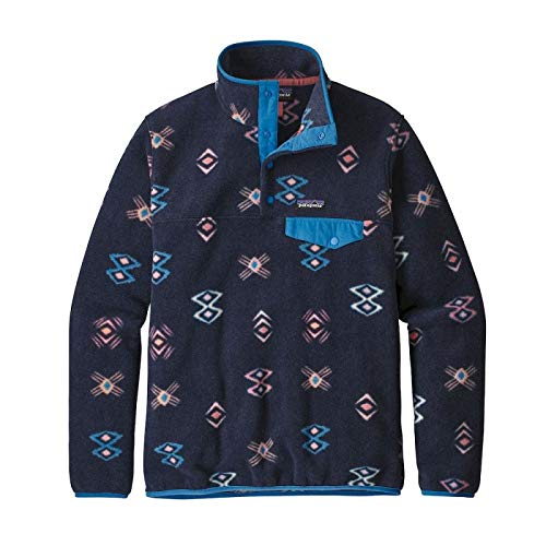 Patagonia Lightweight Synchilla Snap T Womens Fleece X Large Neo Navy - Navy Fair Isle Pullover