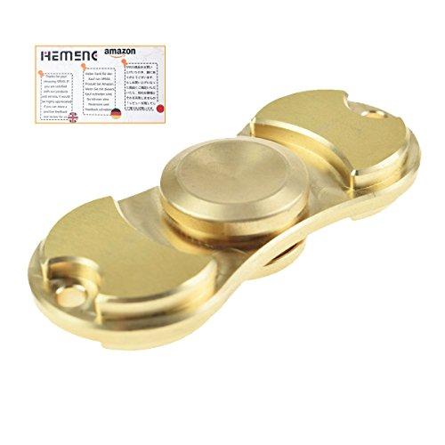 #PHEMENG Fidget Spinner Finger Spielzeug Hand Toy Finger Bar 100% Messing / Kupfer – Vollständiges Keramiklager-Hochgeschwindigkeit(Kupfer)#