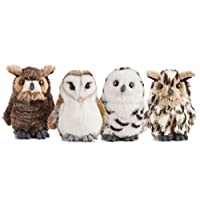 Living Nature Soft Toy - Small Plush Owl, One Supplied (13cm)