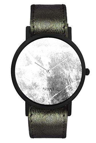 South Lane ' Swiss Quartz Stainless Steel and Leather Casual Watch, Color:Black (Model: swiss-bl-24)