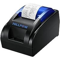 HILLPOW 58MM USB thermischer Empfangs Drucker, Hochgeschwindigkeits Drucken 90mm / Sec, Kompatibel mit ESC/POS Druck Befehlen Eingestellt-EU