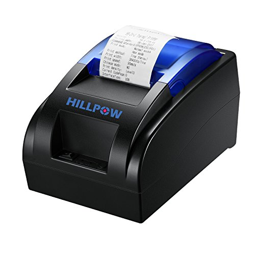 HILLPOW 58MM USB stampante termica, ad alta velocità di stampa 90 millimetri/sec, compatibile con ESC/POS Stampa comandi SET-EU