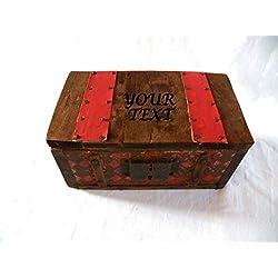 Personalizada Caja Hombre, Cofre del Tesoro, Personalizada Arqueta, Vintage Personalizado, Estilo Medieval