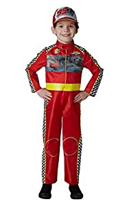 Cars - Disfraz de piloto Rayo McQueen Deluxe para niño, infantil 5-6 años (Rubie