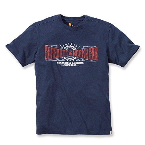 """Carhartt Arbeitsshirt / T-Shirt """"Maddock Work Crew T-shirt"""" Navy M"""
