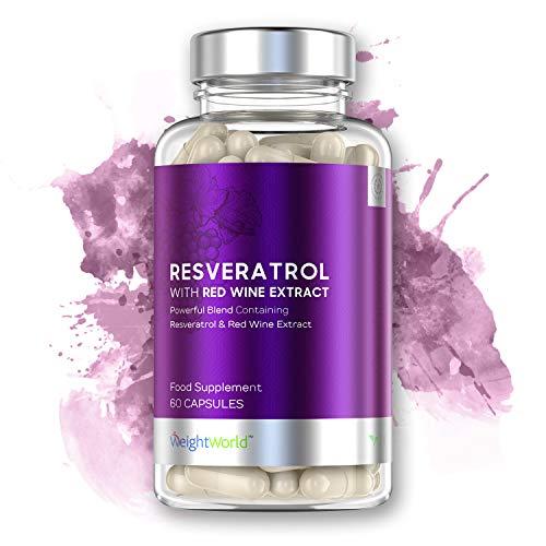 Resveratrol | 125mg Kapseln | 100{196620baa563ae4a566299ffc7af316633d3215d81d83af003f6fee87f1846a4} Natürliche Kapseln mit Rotwein-Extrakt zum Abnehmen | Voller Antioxidantien und schützt die Zellen vor freien Radikalen | Mit Anti-Aging Wirkung