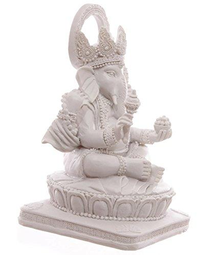 Ganesha Statue Weiss Hinduismus Buddha buddafigur indien buddhismus indische ganescha Figur TOP
