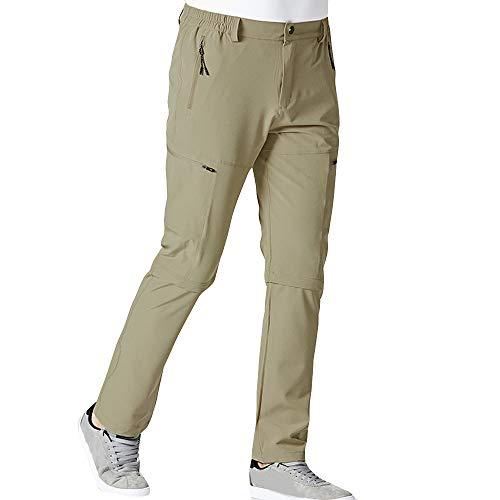 Mymyguoe Trekkinghose Herren Lang Lässige Jogginghose Outdoors Sport Fitness Gym Wander Fitnesshose Abnehmbare Zwei Teile Wanderhosen Straight Leg Vielen Taschen Sporthose ()
