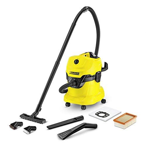 Kärcher 1.348-116.0Drum Vacuum Cleaner 1000W schwarz, gelb Staubsauger-Staubsauger (Drum Vacuum, trocken und naß, Haus, Schwarz, Gelb, Staubbeutel, Kunststoff)