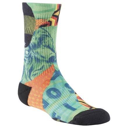 Reebok CF W Print CRW Sock - Calcetines para mujer, color verde, talla S
