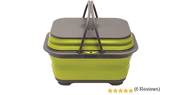 Taille Unique Vert Lime Outwell 650505 Lavoir avec poign/ée Mixte Adulte