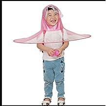 Zcx Chubasquero Niños Sombreros Ponchos Niños y Niñas Sombrero Transparente Sombrilla Paraguas Paraguas Plegable Paraguas Paraguas