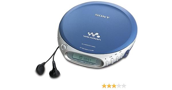 Sony D Ej361 L Tragbarer Cd Player Blau Audio Hifi