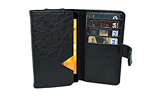 TOTTA PU Leather Wallet Pouch with Card Holder iBall Andi5 M8