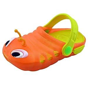 Dnliuw Unisex Caterpillar Stil Flache rutschfeste Sandalen, Sommer Atmungsaktive Strandschuhe Mädchen Loch Schuhe Jungen Indoor Hausschuhe
