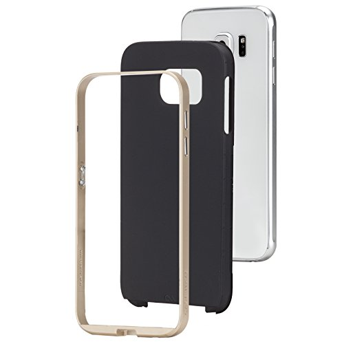 Case-Mate Slim Tough Schutzhülle für Samsung Galaxy S6 schwarz/gold - Original Case-mate