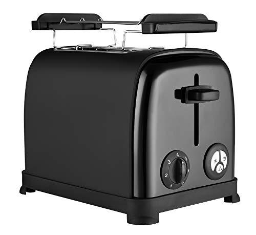 Venga! VG TO 3004 Grille-pain en acier inoxydable et plastique, 950W, Noir