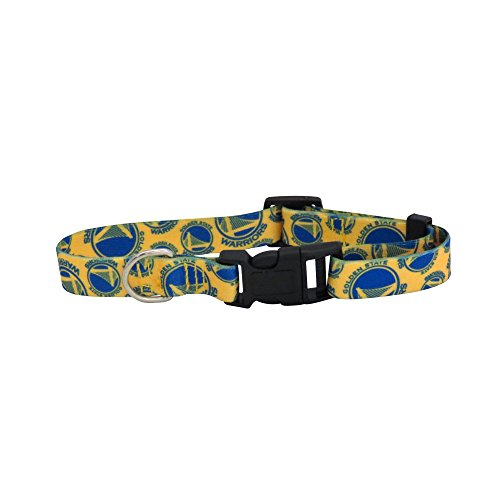 nba-golden-state-warriors-team-pet-collar-medium-blue