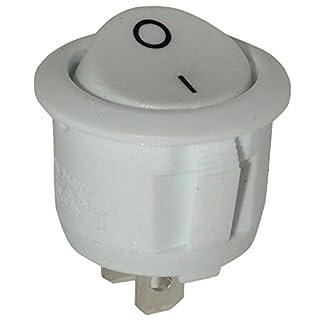 Aerzetix: Knopfschalter Switch Kippschalter Druckschalter SPST ON-OFF 6A/250V weiß 2 Positionen