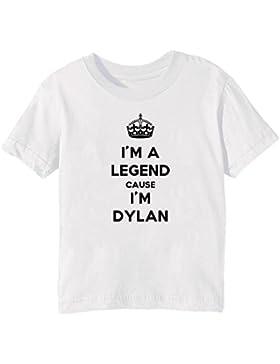 I'm A Legend Cause I'm Dylan Bambini Unisex Ragazzi Ragazze T-Shirt Maglietta Bianco Maniche Corte Tutti Dimensioni...