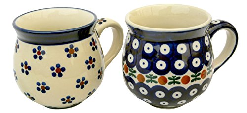 hand-decorated-polish-pottery-manu-faktura-set-k-09064x-70ball-cup-pair-95cm-cobalt-blue-2units