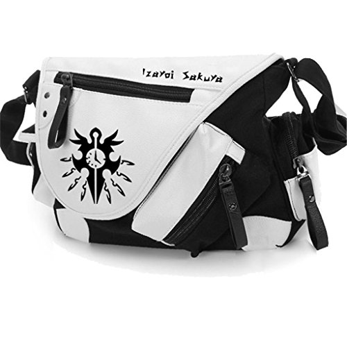 Yoyoshome giapponese anime Cosplay zaino tracolla borsa messenger a tracolla nero Guilty Crown Touhou Project 4