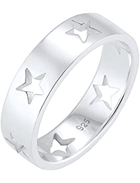 Elli Ring Sterne Astro Cut Out Bandring 925 Silber