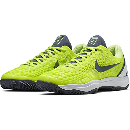 Nike Air Zoom Cage 3 Cly, Scarpe da Tennis Uomo, Multicolore (Volt Glow/Light Carbon-White 701), 43 EU