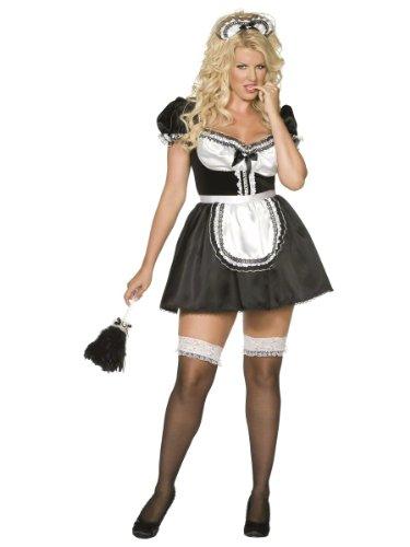 Sexy Zimmermädchen Kostüm für (Maid Womens French Plus Size Kostüme)