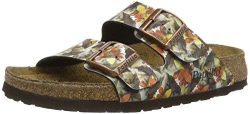 Birkenstock Damen Arizona Birko-Flor Softfootbed Pantoletten, Mehrfarbig (Caleidoscope Brown), 35 EU