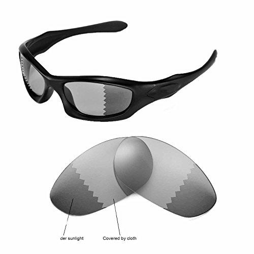 Walleva Ersatzgläser für Oakley Monster Dog Sonnenbrille -Mehrfache Optionen (übergang/photochrom - Polarisiert)