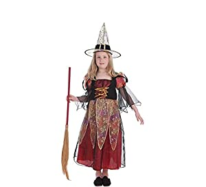 LLOPIS  - Disfraz Infantil Bruja Burdeos t-m