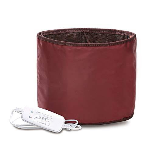 Elektrische Heizung Taille Bauchmassagegerät Warm Moxibustion Gürtel unteren Rücken Far Infrarot Vibration Taille Bandscheibenmassagegerät,Red,122x25cm -