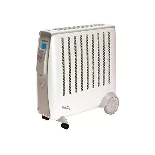 Radiateur électrique EWT - CDE2ECC Radiateur écologique-Technologie sans huile-2000 W-Electronique-Prog-Aff.digit-Tlcde-Blanc/Gr