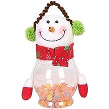 Mackur Navidad Serien Caja Papá Noel, Reno, muñeco de Nieve Forma Plástico Caja de