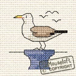 Mouseloft Mini Cross Stitch Kit - Seagull, By the Seaside Collection by Mouseloft -