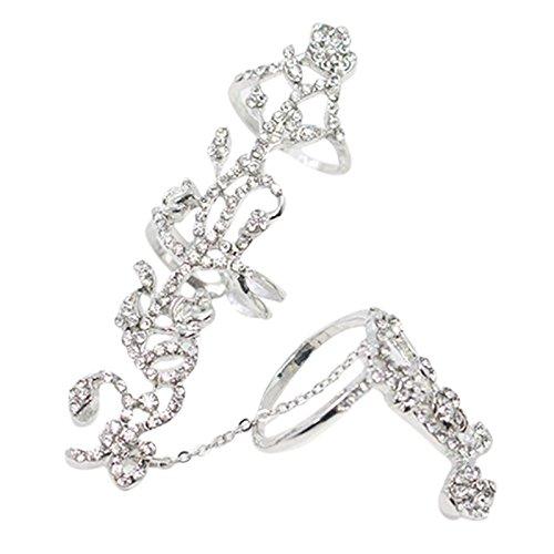 SODIAL Ringe mehrere Finger Stack Knuckle Band Set Damen Modeschmuck (Silber) - Für Knuckle Oben Silber Ringe