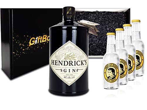 Hendricks Gin Tonic Set / Geschenkset - Hendricks Gin 700ml (44{5de512ab36fe10a080e91192c996fb6e6b743fd053cb08acb04c716f4b7fab26} Vol.) + 4x Thomas Henry Tonic Water 200ml