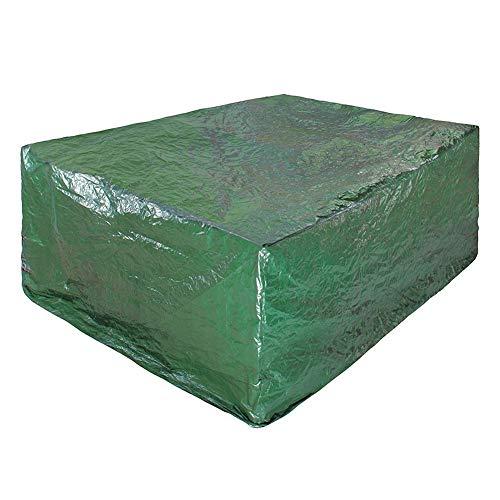 Zhangbangqiangshop Gartenmöbel Abdeckung Plane wasserdicht staubdicht Hof Nähen Sonnenschutz PE, anpassbar, 4 Größen (Color : Green, Size : 280 * 206 * 108cm) -