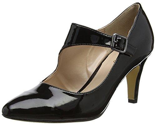 Lotus Women's Laurana Closed-Toe Heels, Black (Black Shiny), 5 UK 38 EU