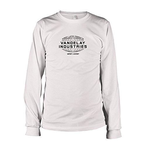 TEXLAB - Vandelay Industries - Langarm T-Shirt, Herren, Größe XXL, weiß